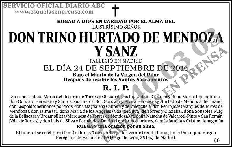 Trino Hurtado de Mendoza y Sanz